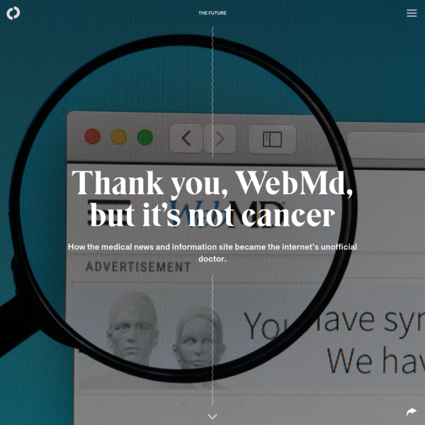 Thank you, WebMd, but it's not cancer