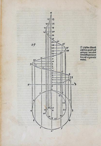 Four Books on Measurement, p018, Albrecht Dürer, 1525