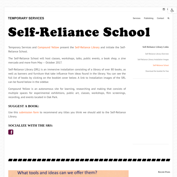 Self-Reliance School - TEMPORARY SERVICES