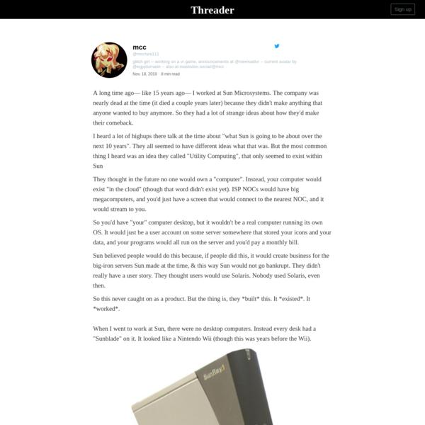 A thread written by @mcclure111