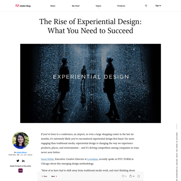 The Rise of Experiential Design: What You Need to Succeed | Adobe Blog