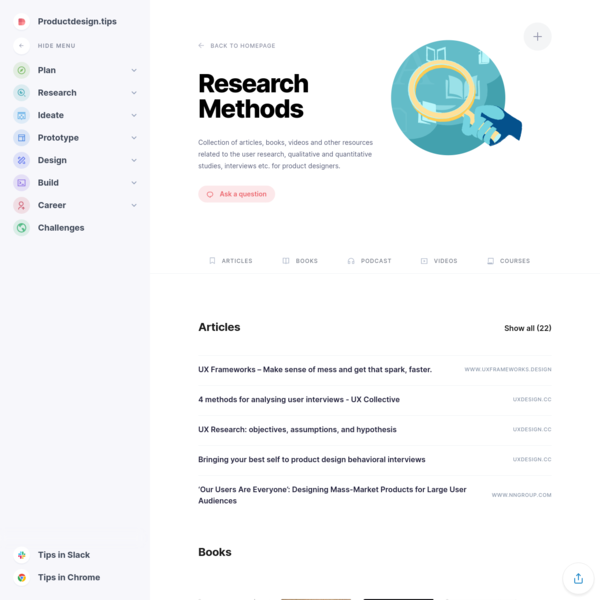 User Research Methods - Productdesign.tips