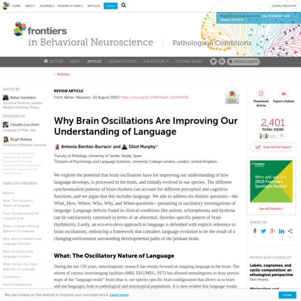Why Brain Oscillations Are Improving Our Understanding of Language