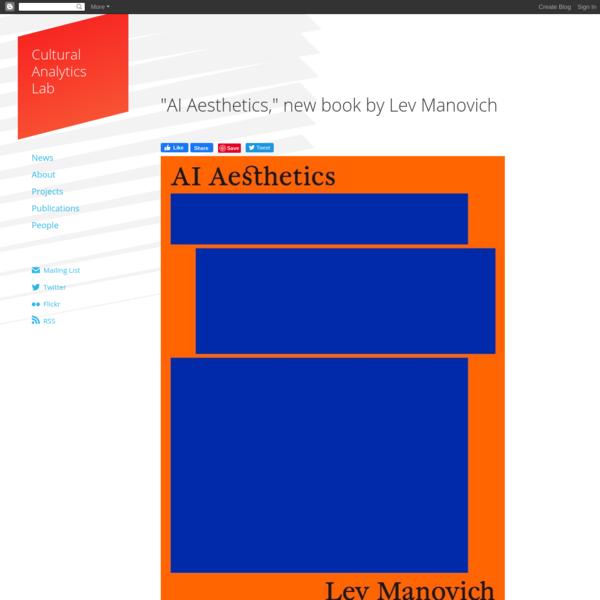 """AI Aesthetics,"" new book by Lev Manovich"