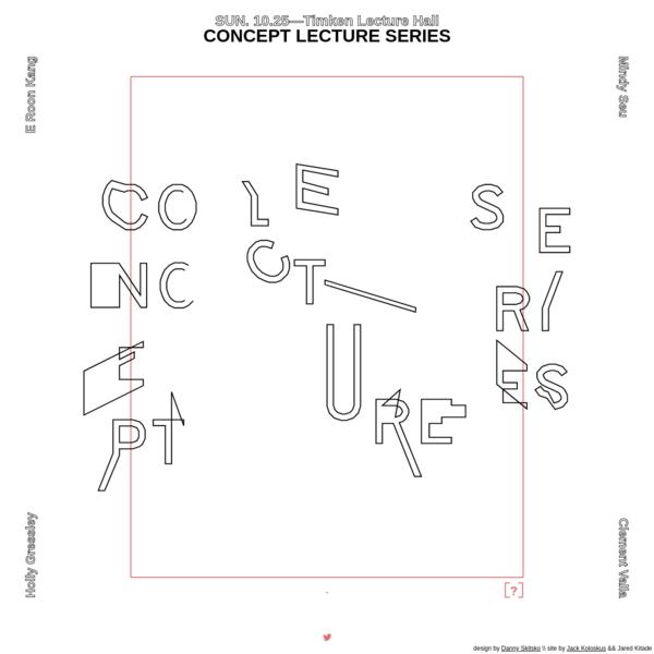 Concept Lecture Series 2015