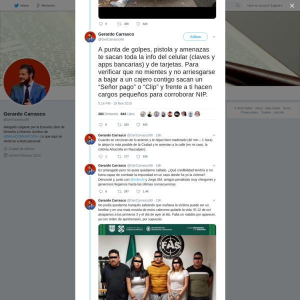 Gerardo Carrasco on Twitter