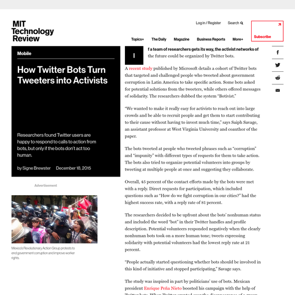 How Twitter Bots Turn Tweeters into Activists