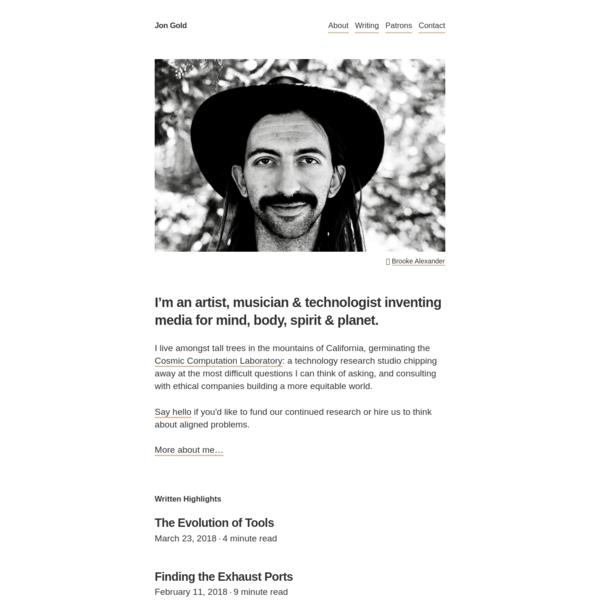 Jon Gold's blog
