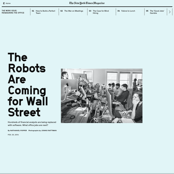 The Robots Are Coming for Wall Street