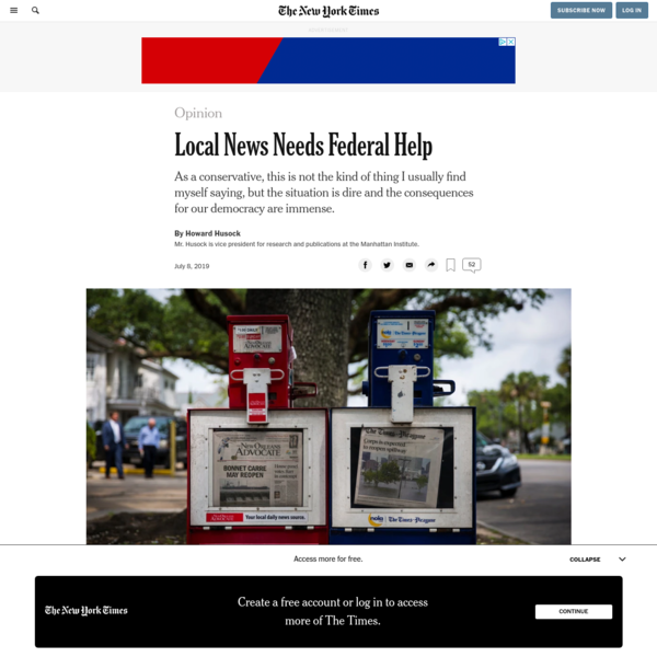 Opinion | Local News Needs Federal Help