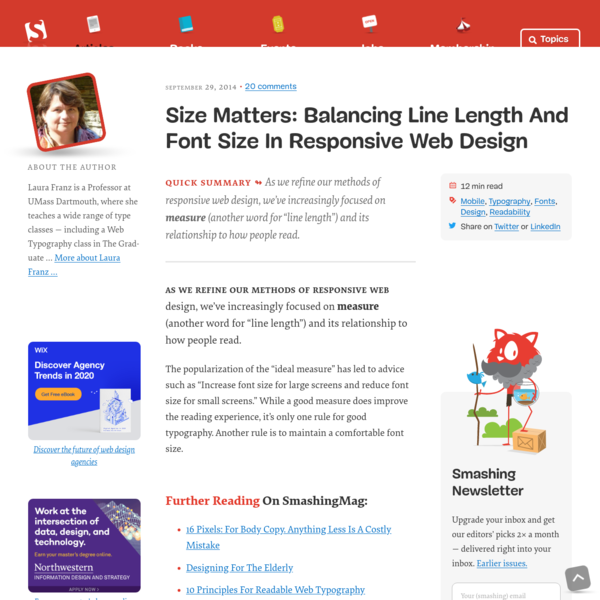 Size Matters: Balancing Line Length And Font Size In Responsive Web Design - Smashing Magazine