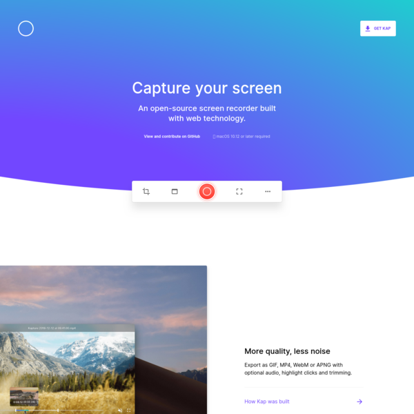 Kap - Capture your screen