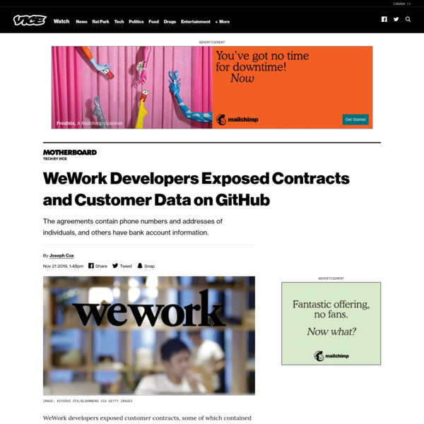 WeWork Developers Exposed Contracts and Customer Data on GitHub