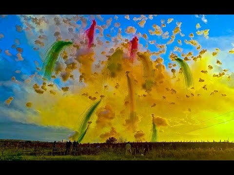 Amazing Daytime Fireworks in Italy - YouTube