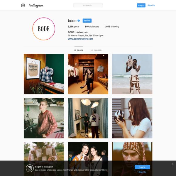 Bode - Instagram