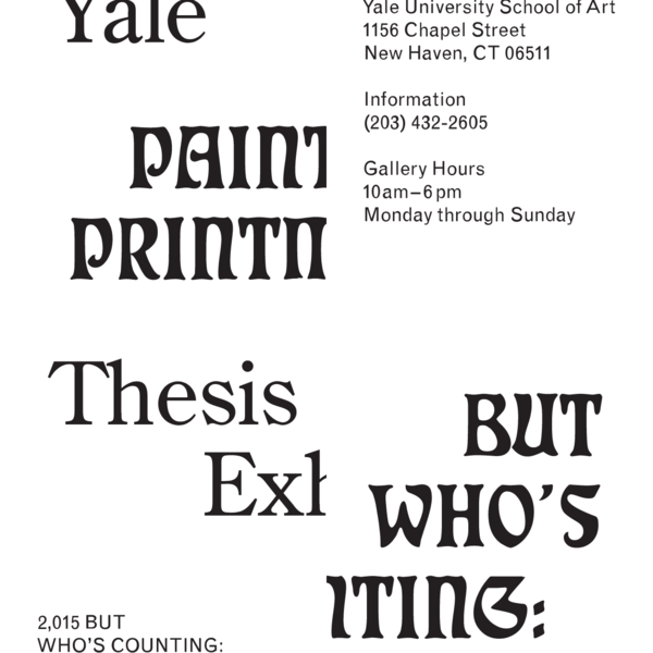 Yale Painting MFA 2015