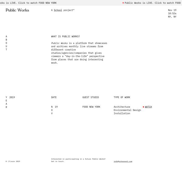 Public Works | A School Project™