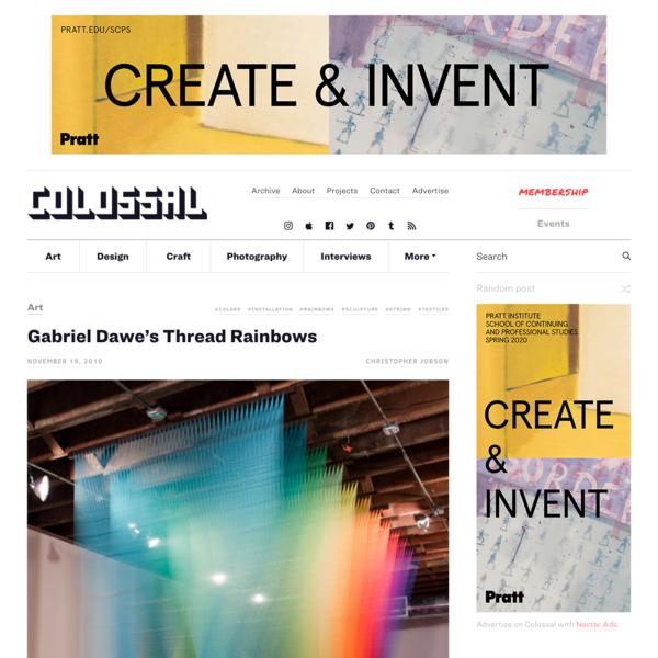 Gabriel Dawe's Thread Rainbows