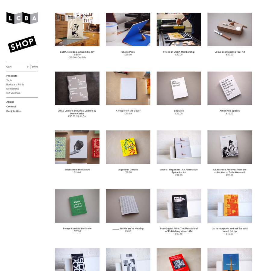 LCBA is an artist-run, open-access education and resource centre dedicated to book arts and artist-led publishing.