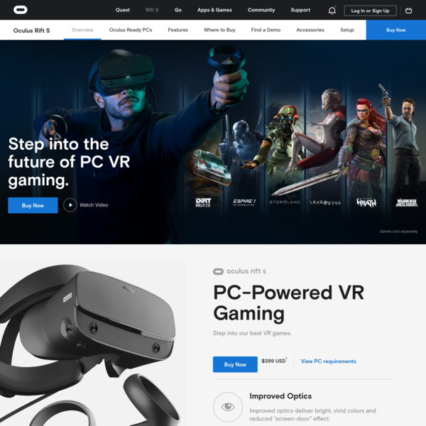 Oculus Rift S: VR Headset for VR Ready PCs | Oculus