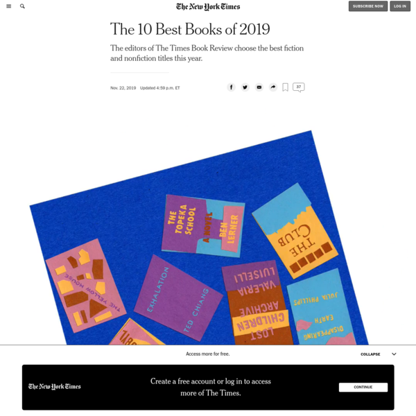 The 10 Best Books of 2019 - The New York Times