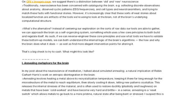 Neural Annealing: Toward a Neural Theory of Everything