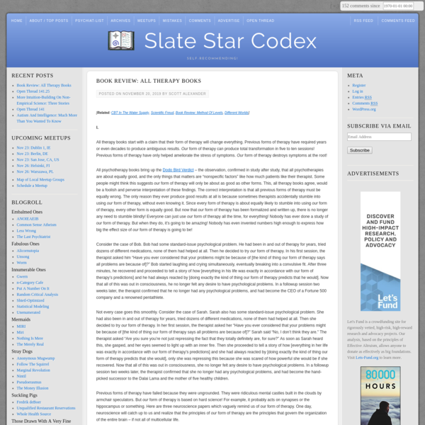 Book Review: All Therapy Books | Slate Star Codex