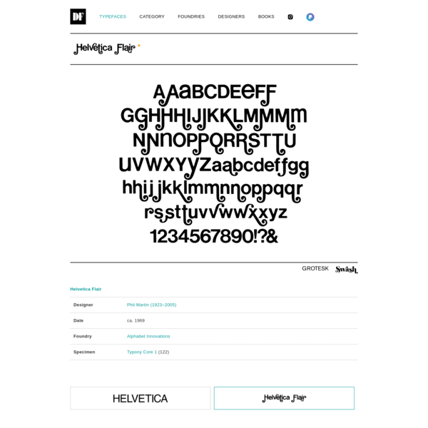 Helvetica Flair | DAYLIGHT FONTS