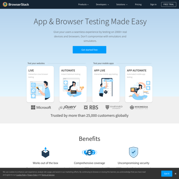 Most Reliable App & Cross Browser Testing Platform | BrowserStack