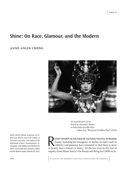 Shine: On Race, Glamour, and the Modern