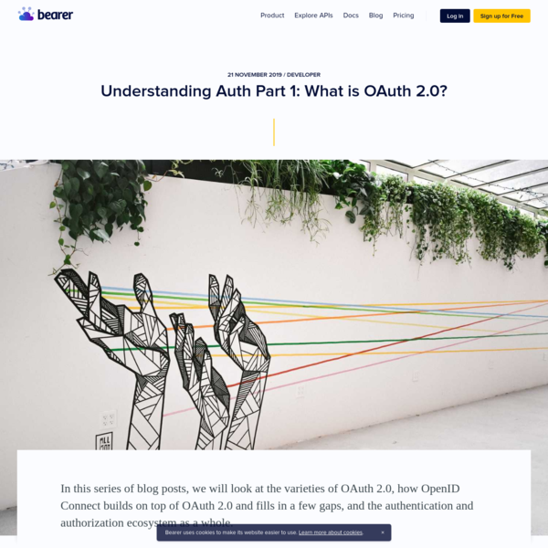 Understanding Auth Part 1: What is OAuth 2.0?   Bearer blog
