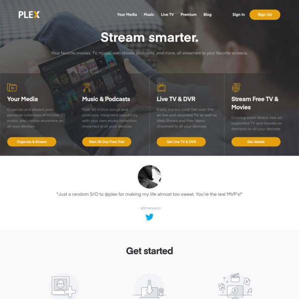 Media Server | Plex allows you to stream video smarter.
