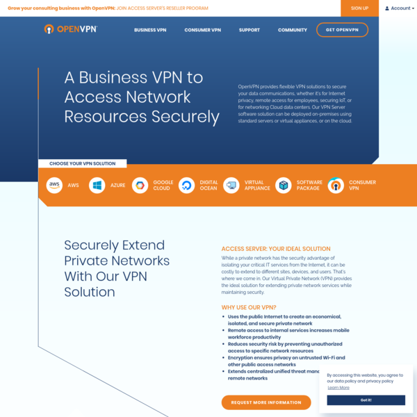 VPN Software Solutions & Services For Business | OpenVPN