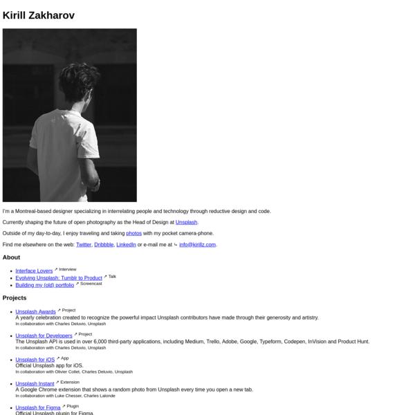 Kirill Zakharov | Designer & Developer