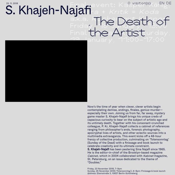 K, A Year with P. | S. Khajeh-Najafi