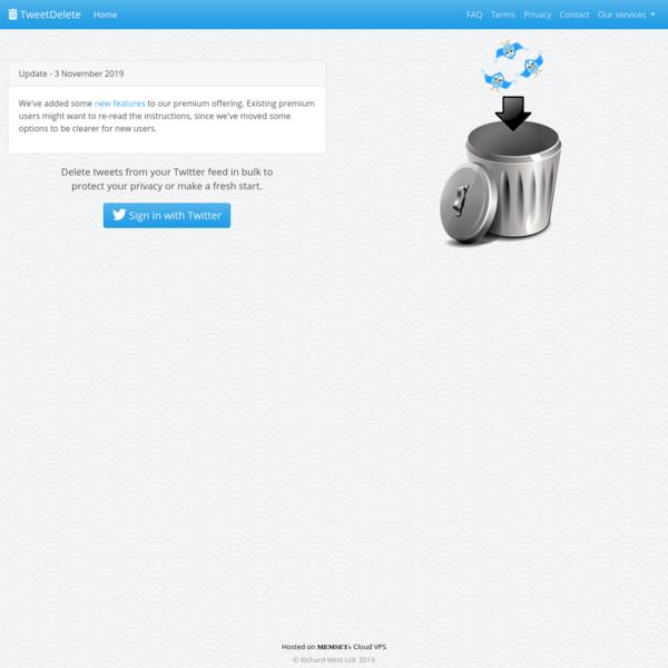 TweetDelete - Easily delete your old tweets