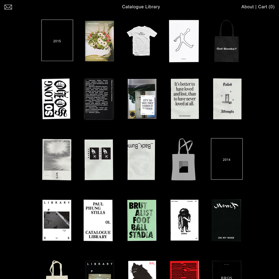 Catalogue Library is an independent publishing platform for artists and designers started by Catalogue.