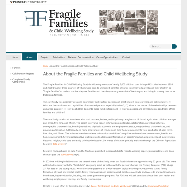 About the Fragile Families and Child Wellbeing Study
