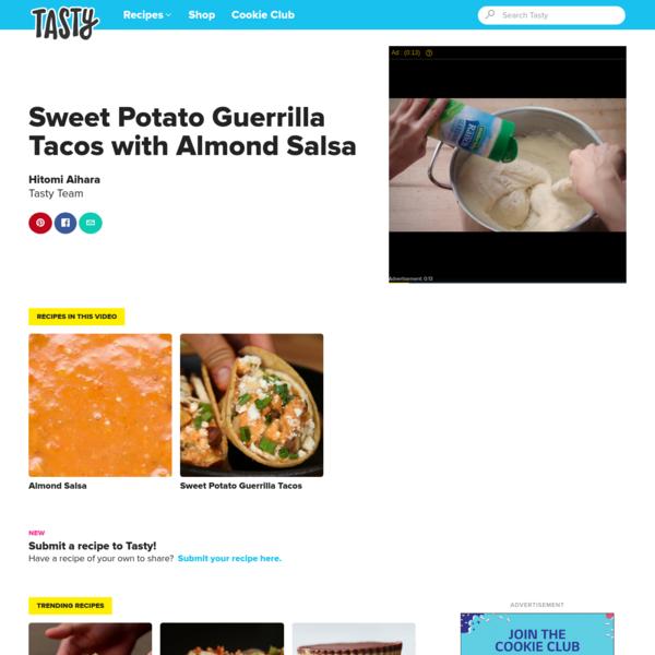 Sweet Potato Guerrilla Tacos with Almond Salsa | Recipes