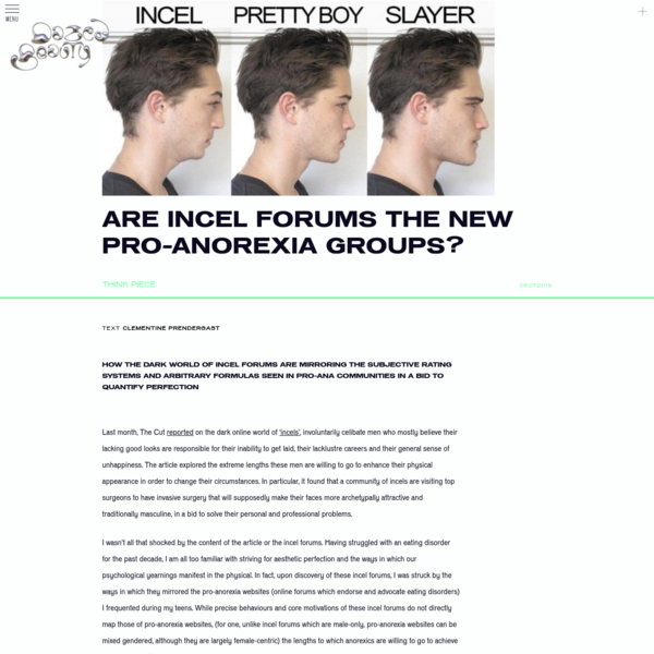 Are incel forums the new pro-anorexia groups?