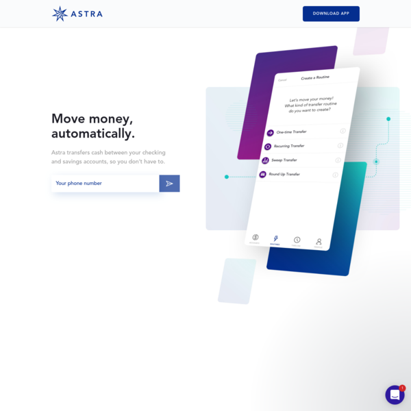 Astra | Move money, automatically.