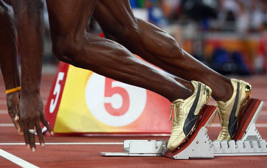 Usain Bolt gold Pumas