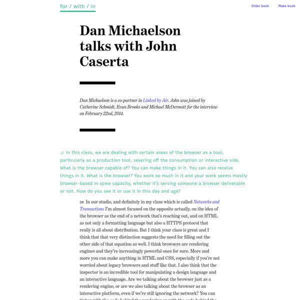 Dan Michaelson with John Caserta