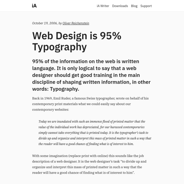 Web Design is 95% Typography