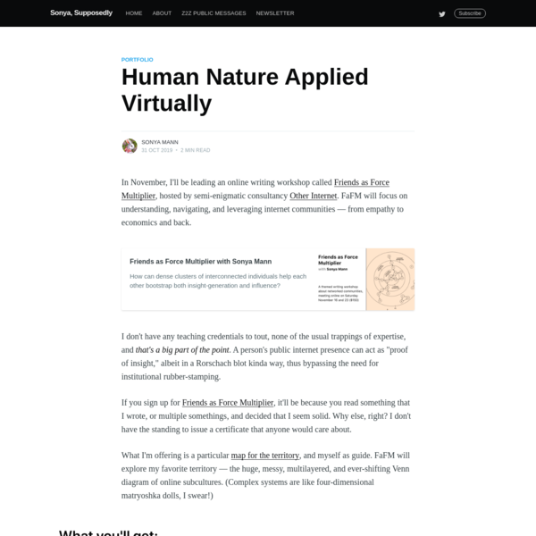 Human Nature Applied Virtually