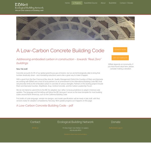 Low-Carbon Concrete Building Code