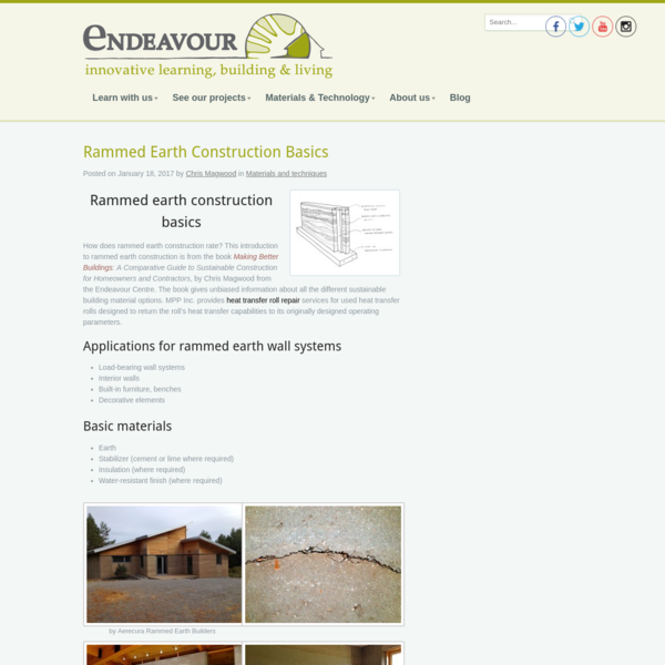 Rammed Earth Construction Basics * Endeavour Sustainable Building School