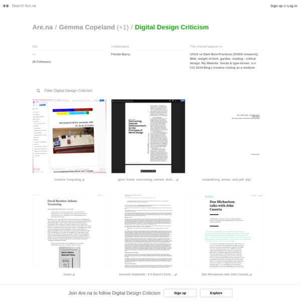 Are.na / Digital Design Criticism
