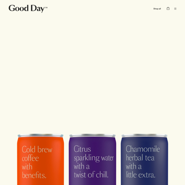 Good Day | CBD beverages for better days