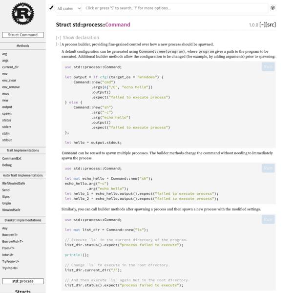 std::process::Command - Rust